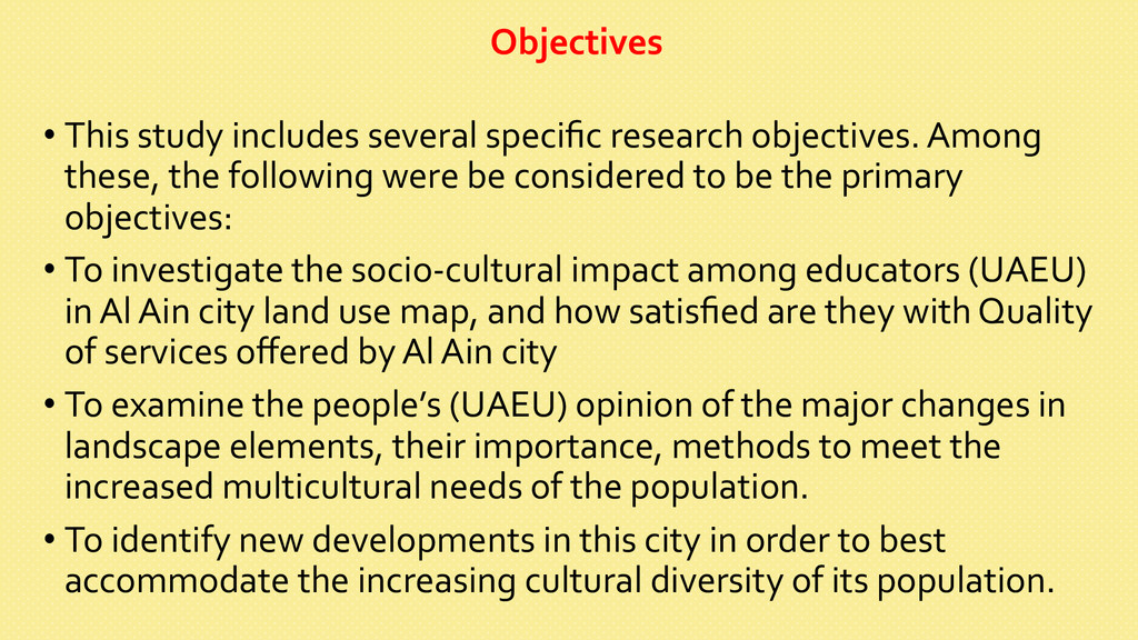 Objectives      •This study ...
