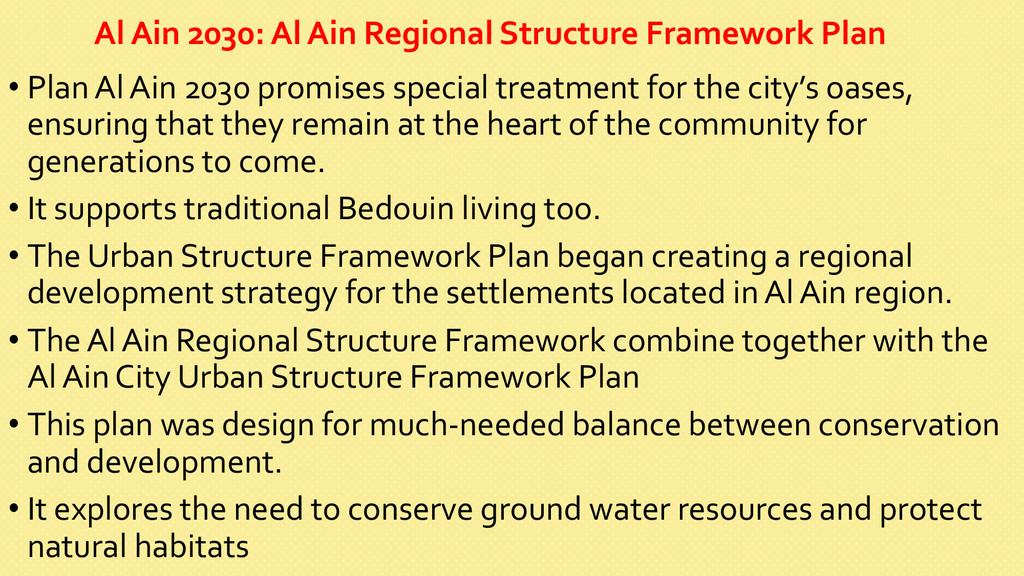 Al Ain 2030: Al Ain Regional ...