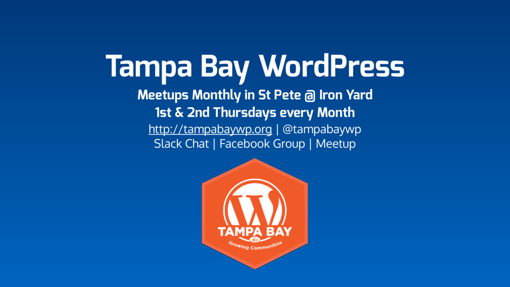 Tampa Bay WordPress Meetups Monthly in St Pete ...