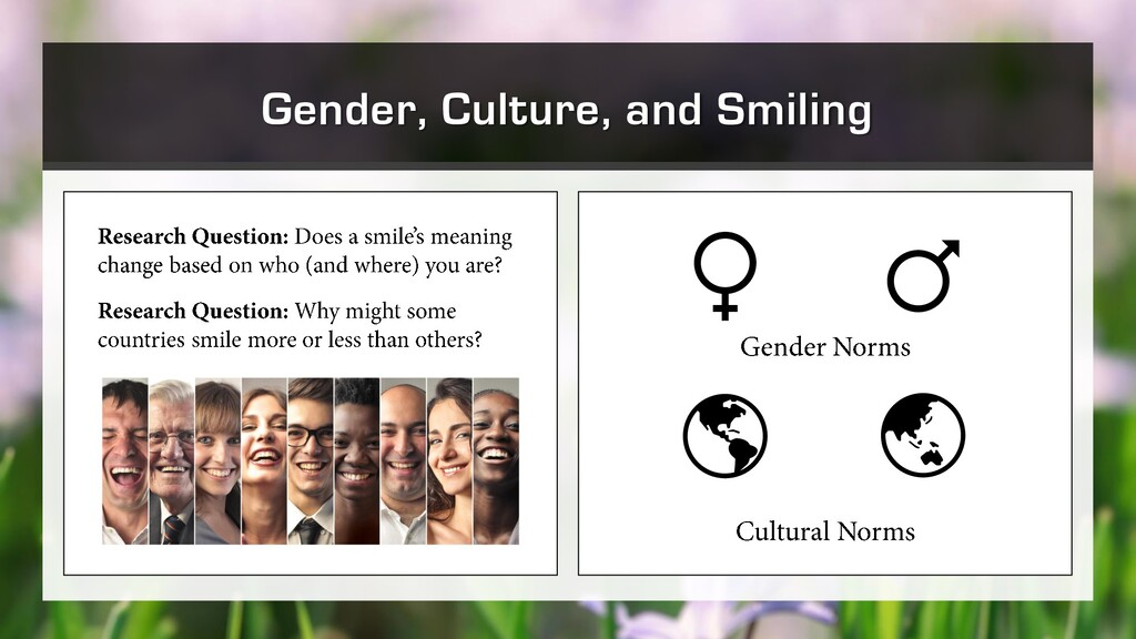 Gender, Culture, and Smiling