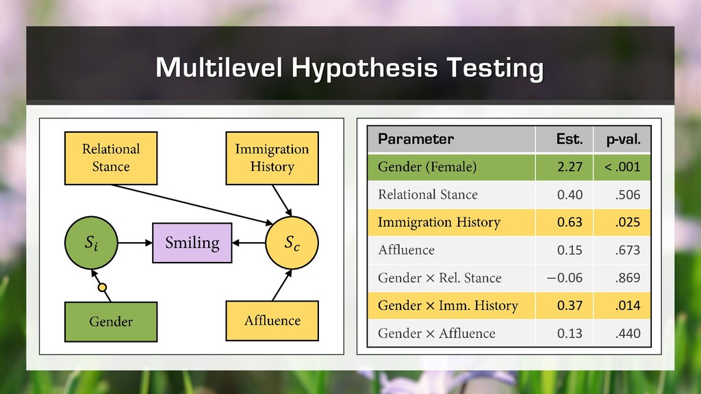 Multilevel Hypothesis Testing   Parameter Est. ...