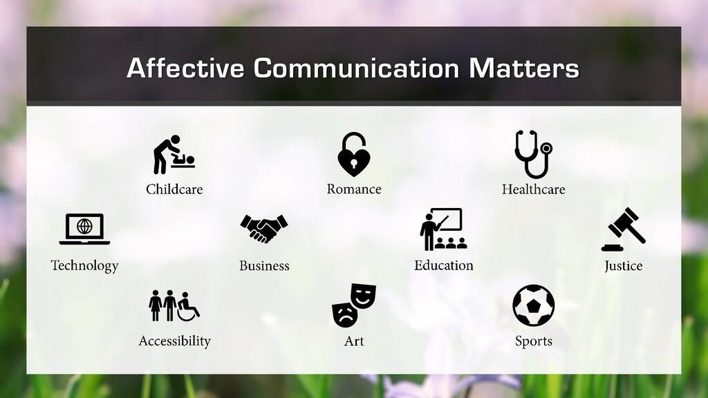 Affective Communication Matters