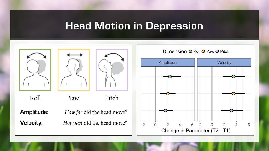 Head Motion in Depression Amplitude: Velocity: