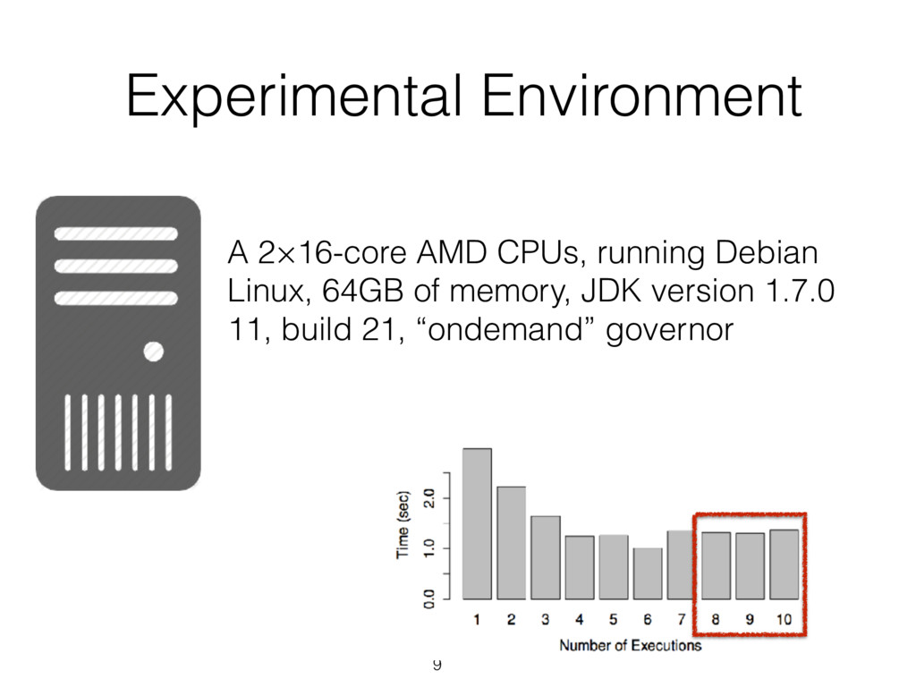 9 Experimental Environment A 2×16-core AMD CPUs...