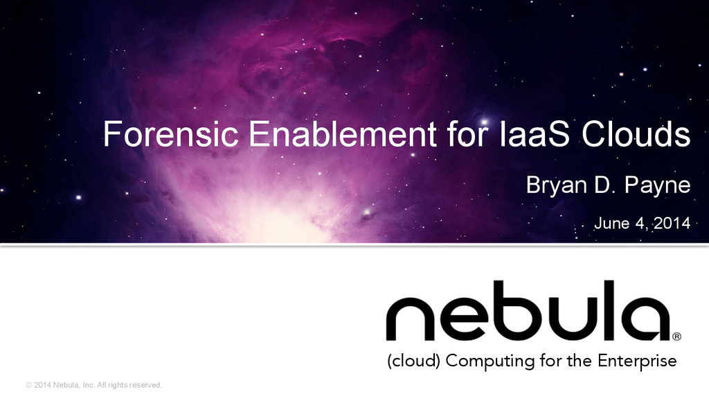 © 2014 Nebula, Inc. All rights reserved. (cloud...