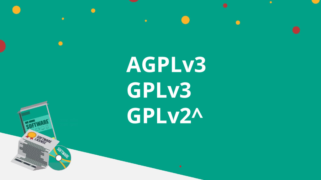 AGPLv3 GPLv3 GPLv2^