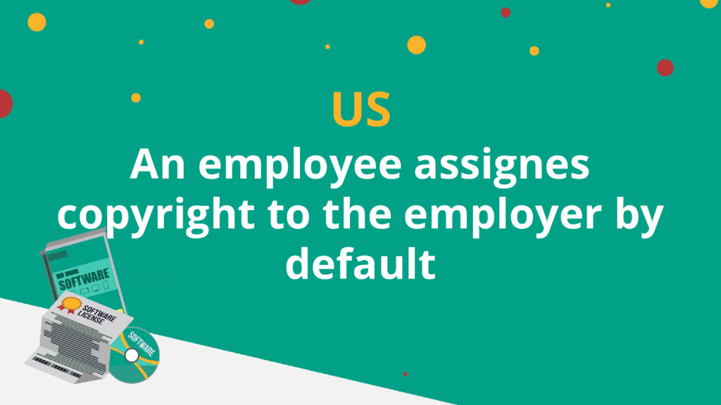US An employee assignes copyright to the employ...