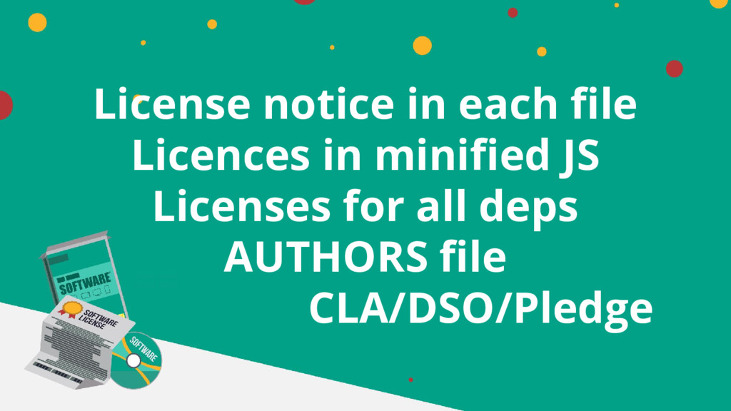 License notice in each file Licences in minifie...