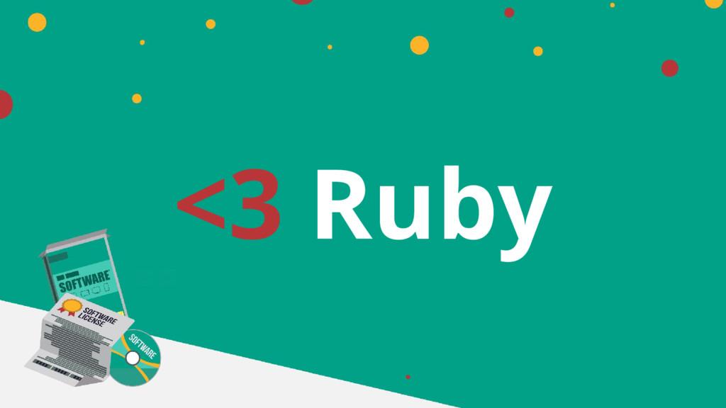 <3 Ruby