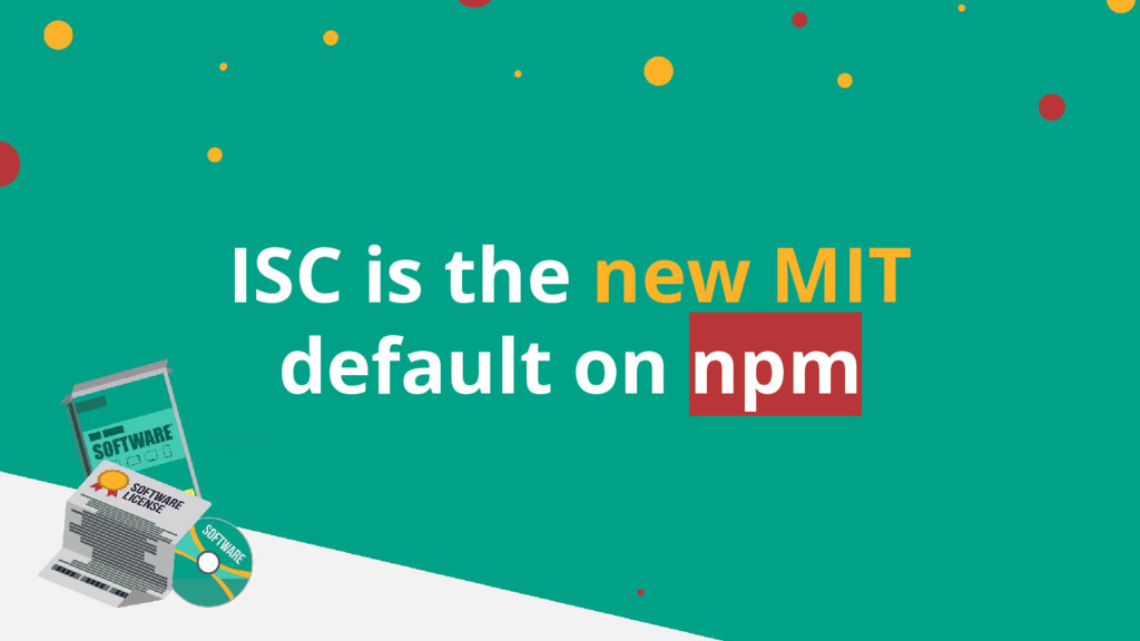 ISC is the new MIT default on npm