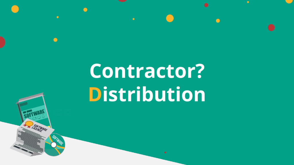 Contractor? Distribution