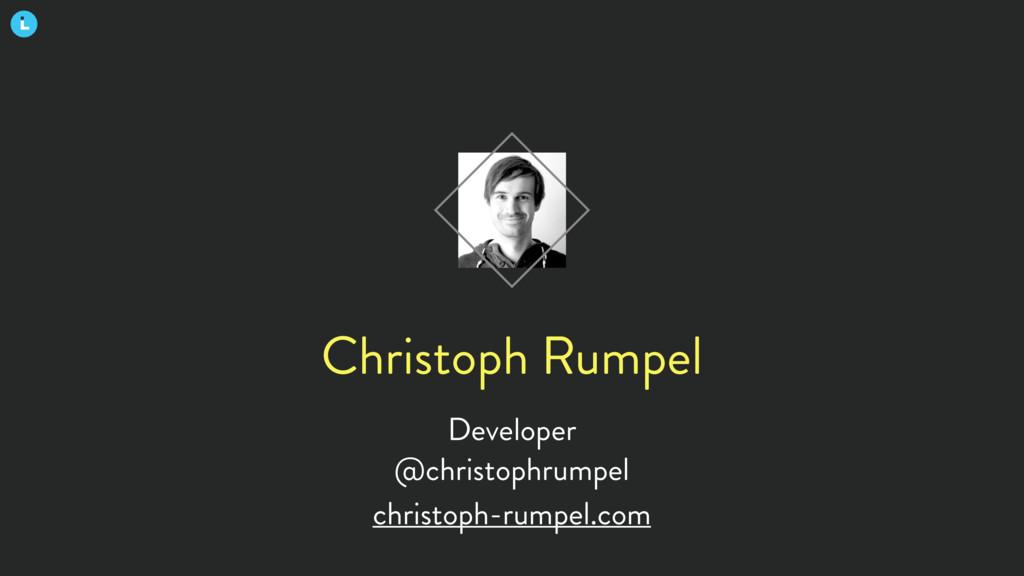 Christoph Rumpel Developer @christophrumpel chr...