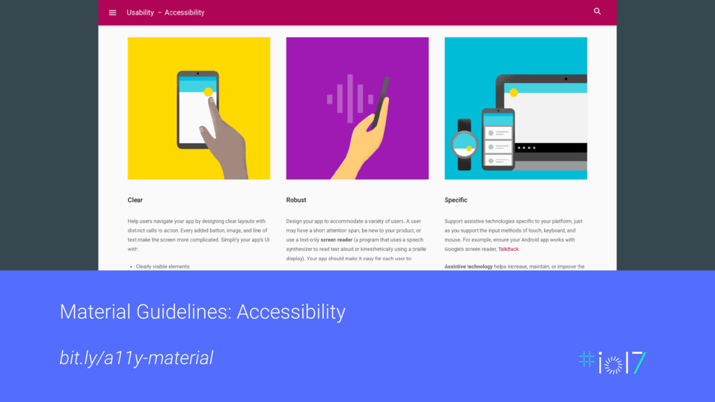 Material Guidelines: Accessibility bit.ly/a11y-...