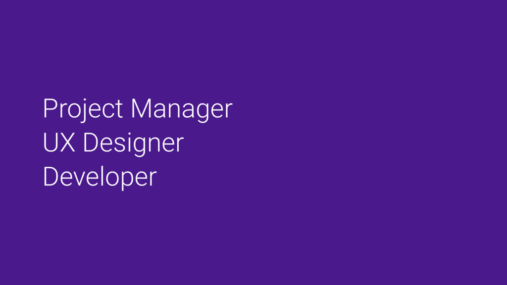 Project Manager UX Designer Developer