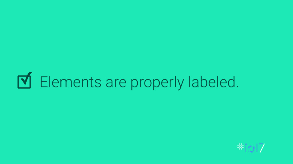 Elements are properly labeled. ✓