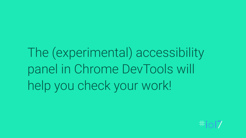 The (experimental) accessibility panel in Chrom...
