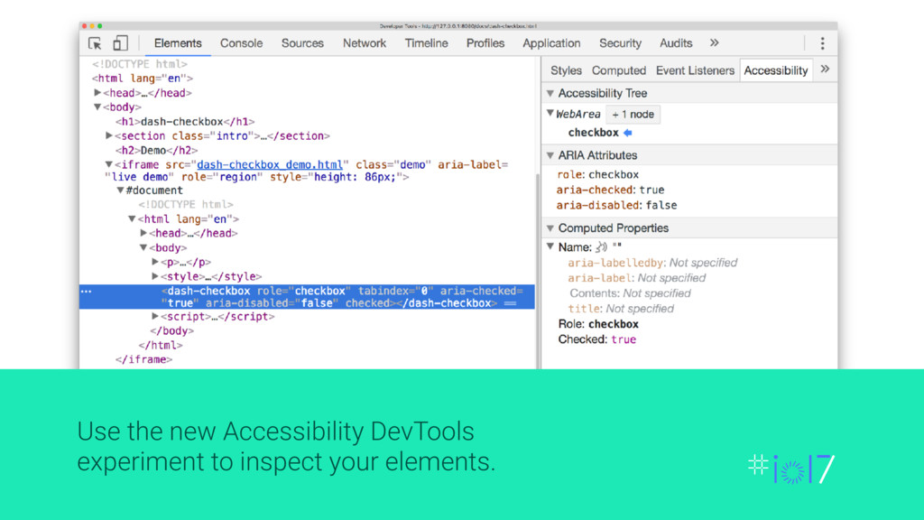 Use the new Accessibility DevTools experiment t...