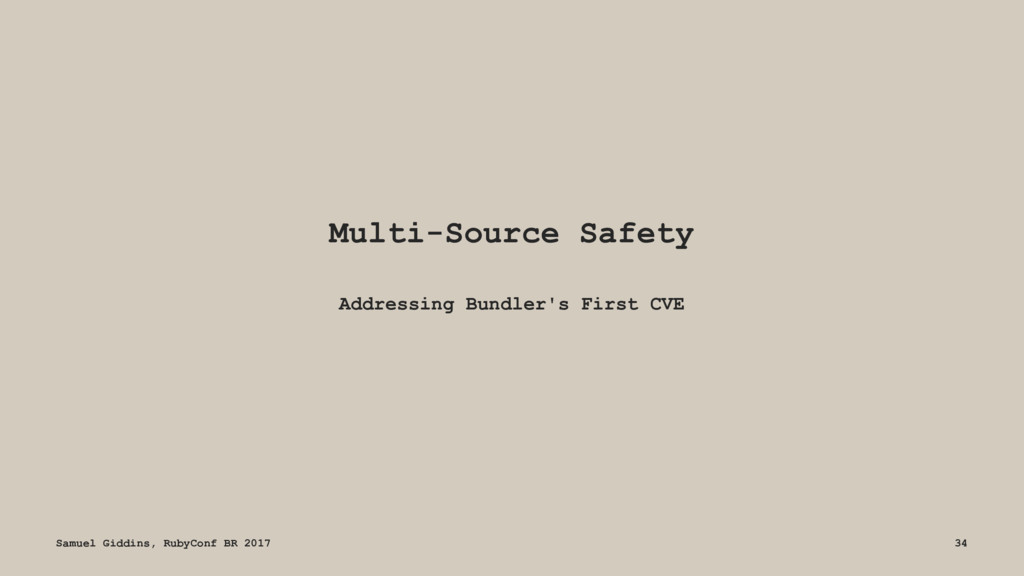 Multi-Source Safety Addressing Bundler's First ...