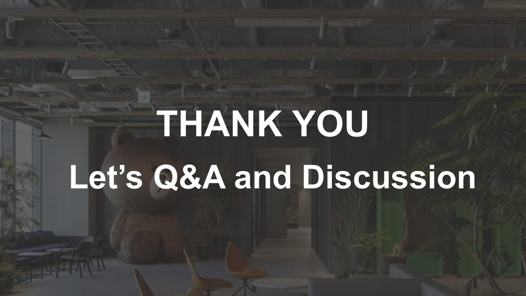 THANK YOU Let's Q&A and Discussion