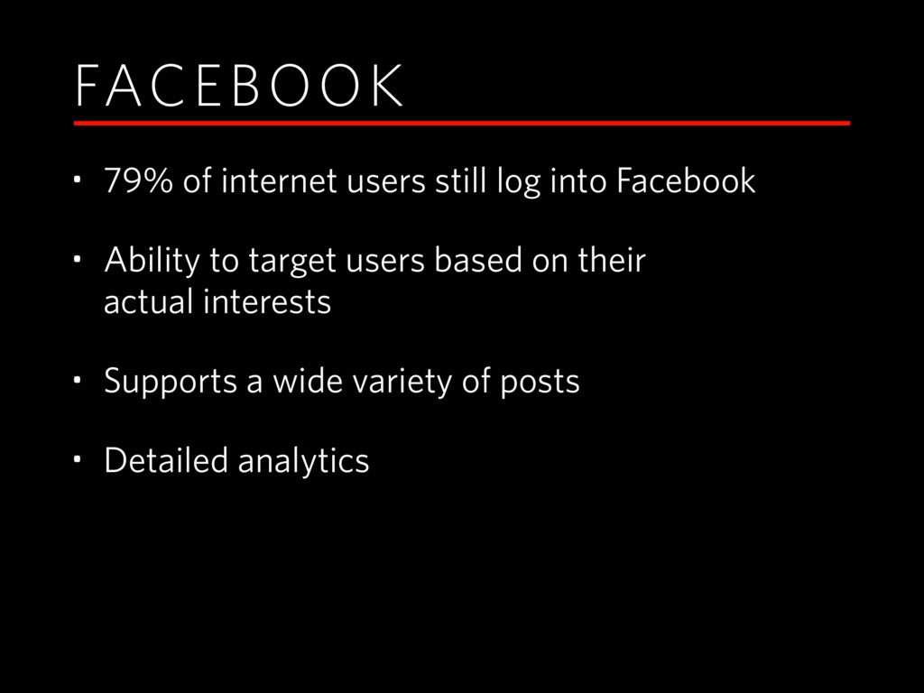 FACEBOOK • 79% of internet users still log into...
