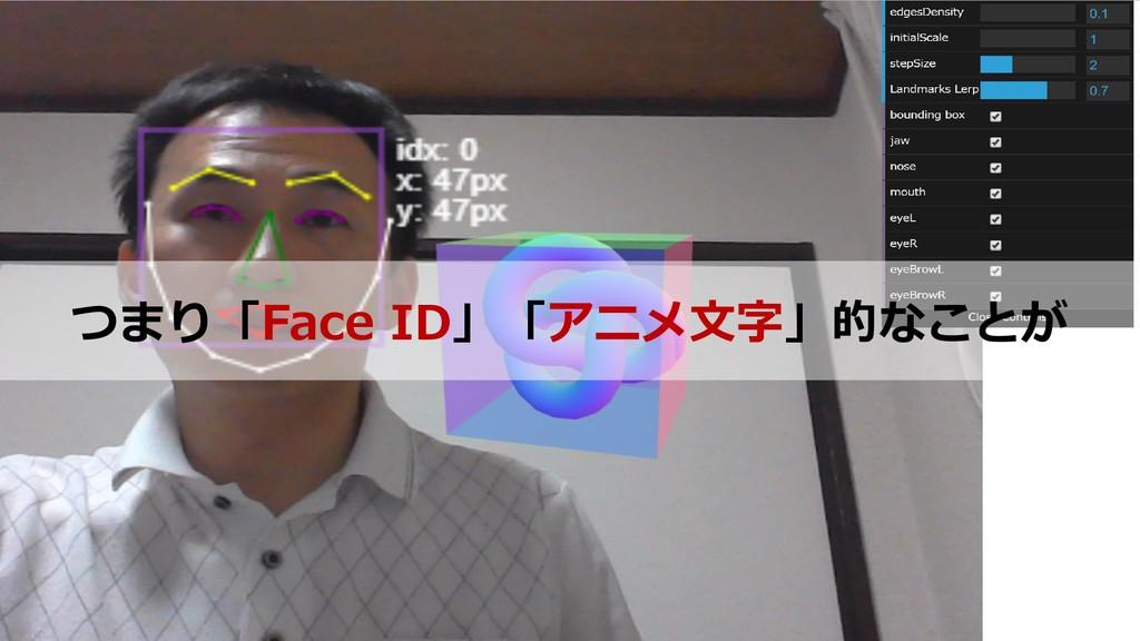 25 つまり「Face ID」「アニメ文字」的なことが