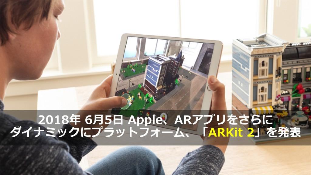 7 2018年 6月5日 Apple、ARアプリをさらに ダイナミックにプラットフォーム、「A...