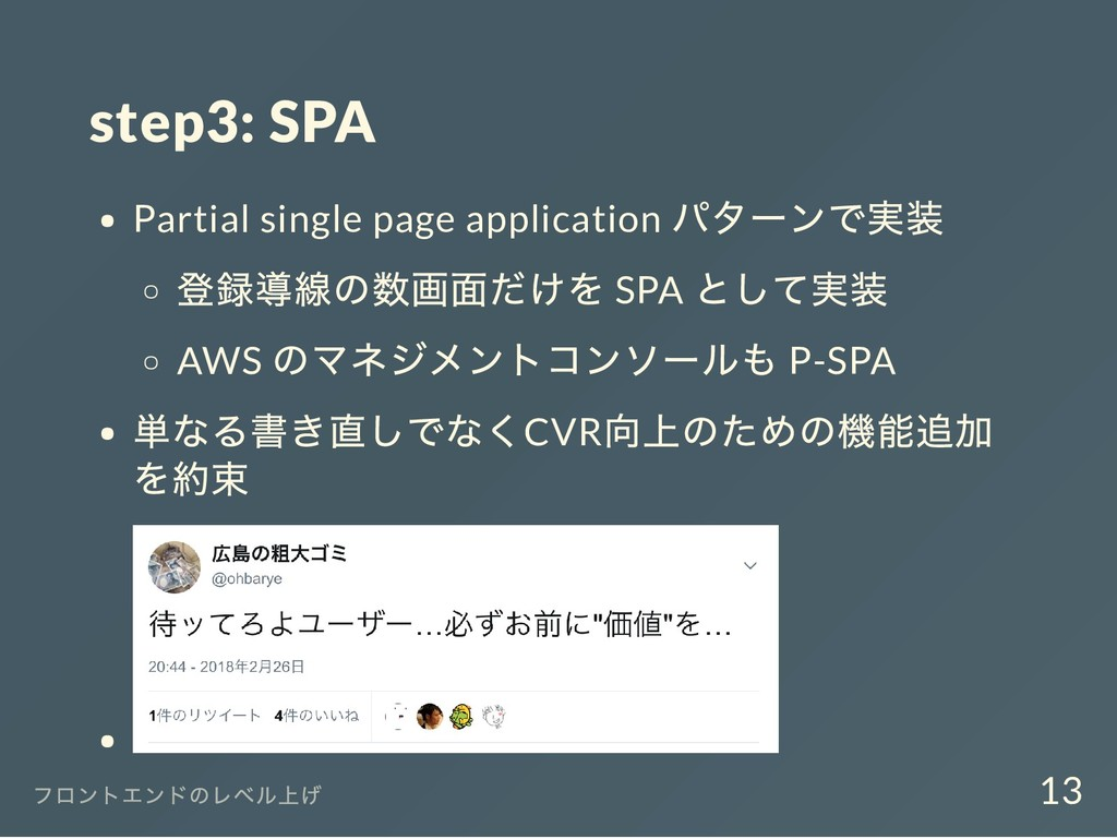 step3: SPA Partial single page application パターン...