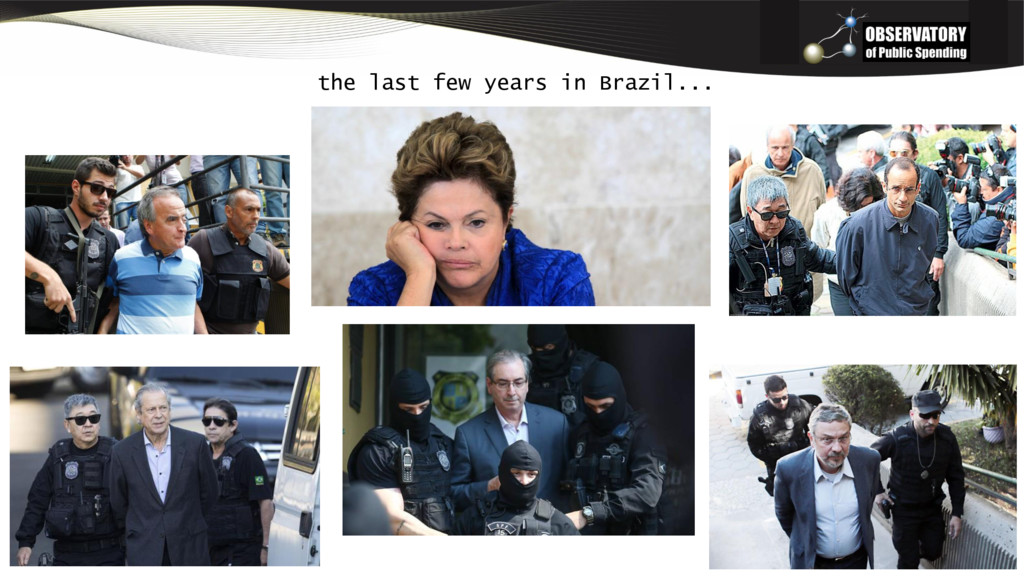 the last few years in Brazil...