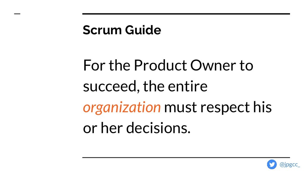 Scrum Guide For the Product Owner to succeed, t...