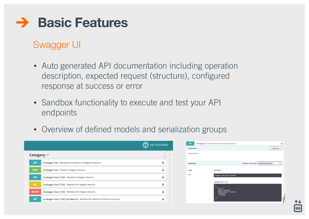 Basic Features • Auto generated API documentati...