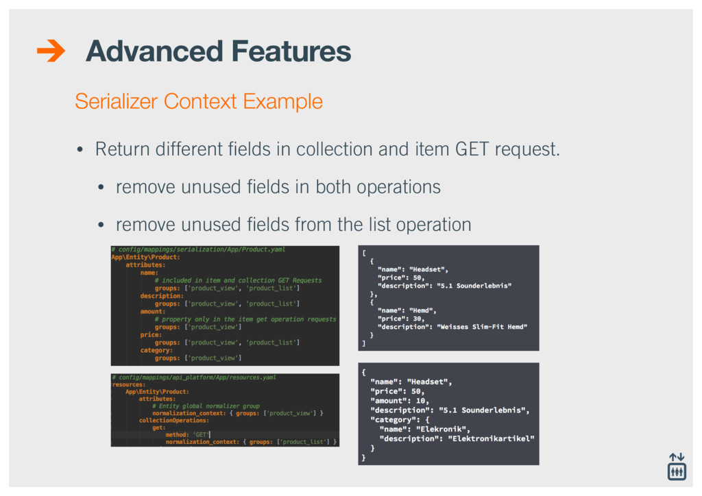 Advanced Features • Return different fields in c...