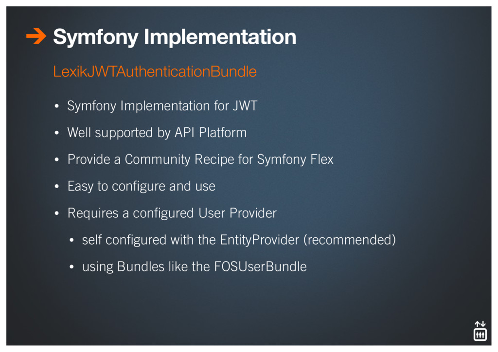 Symfony Implementation • Symfony Implementation...