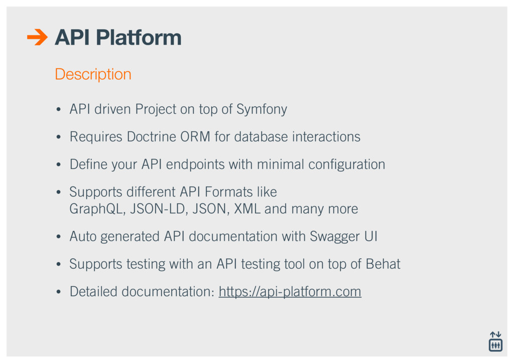 API Platform • API driven Project on top of Sym...