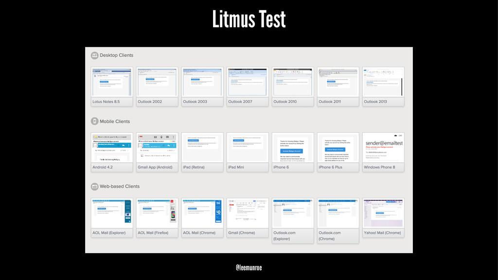 Litmus Test @leemunroe