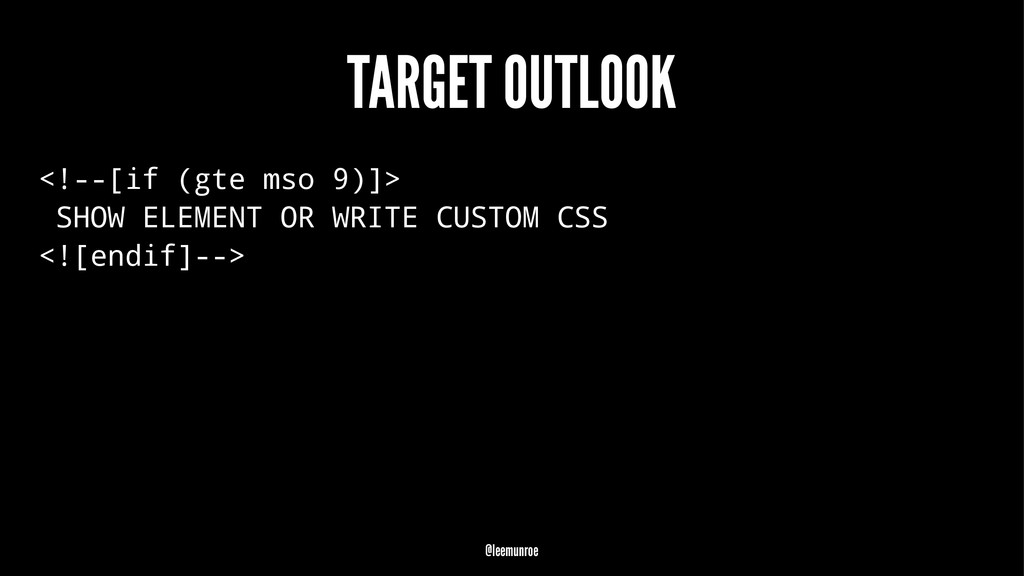 TARGET OUTLOOK <!--[if (gte mso 9)]> SHOW ELEME...