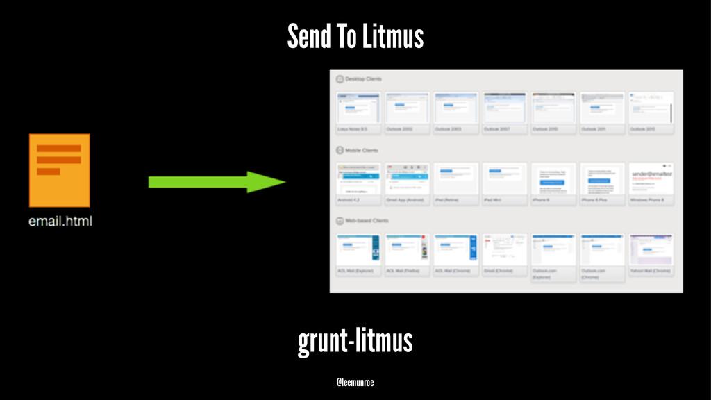 Send To Litmus grunt-litmus @leemunroe