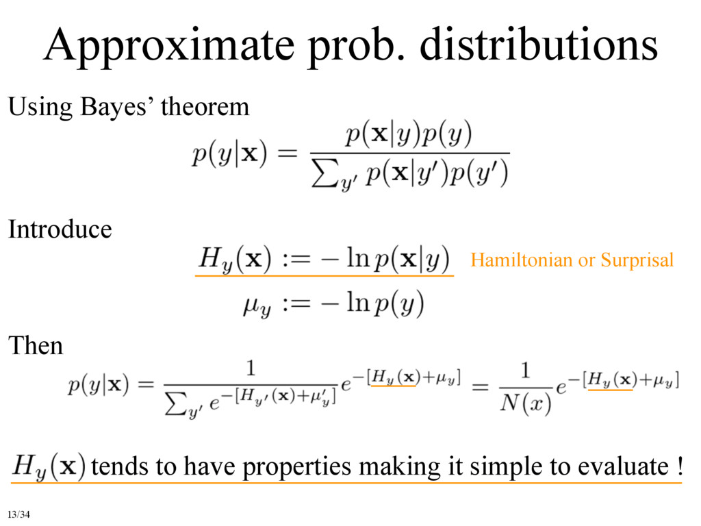 Approximate prob. distributions Using Bayes' th...