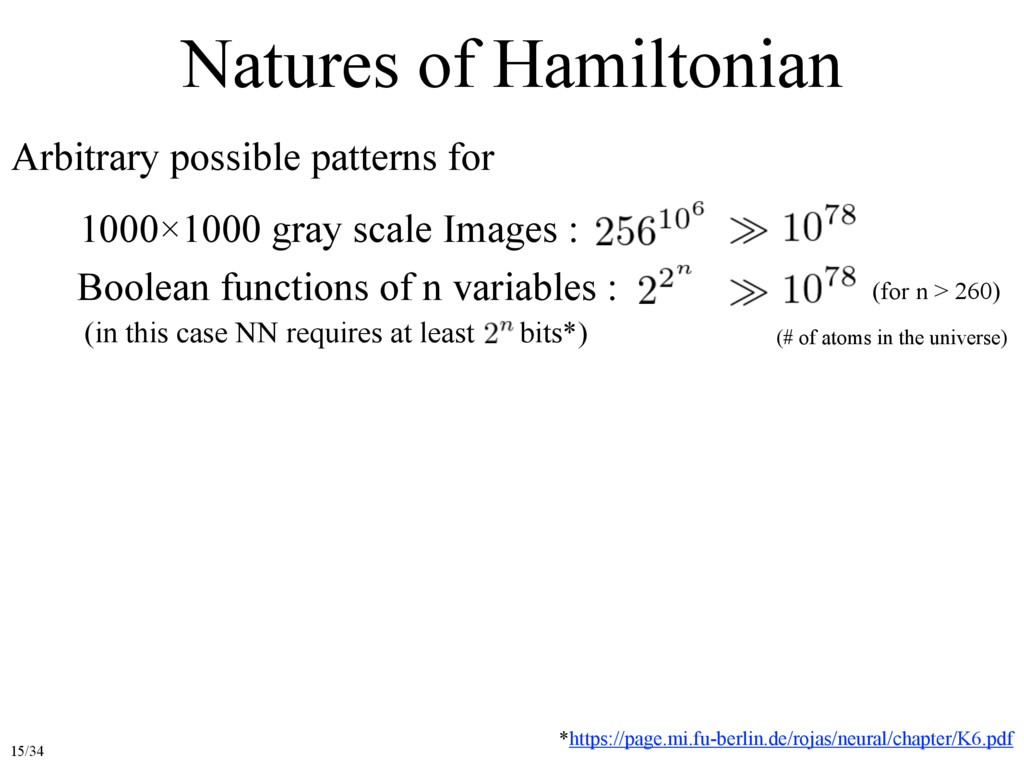 Natures of Hamiltonian Arbitrary possible patte...