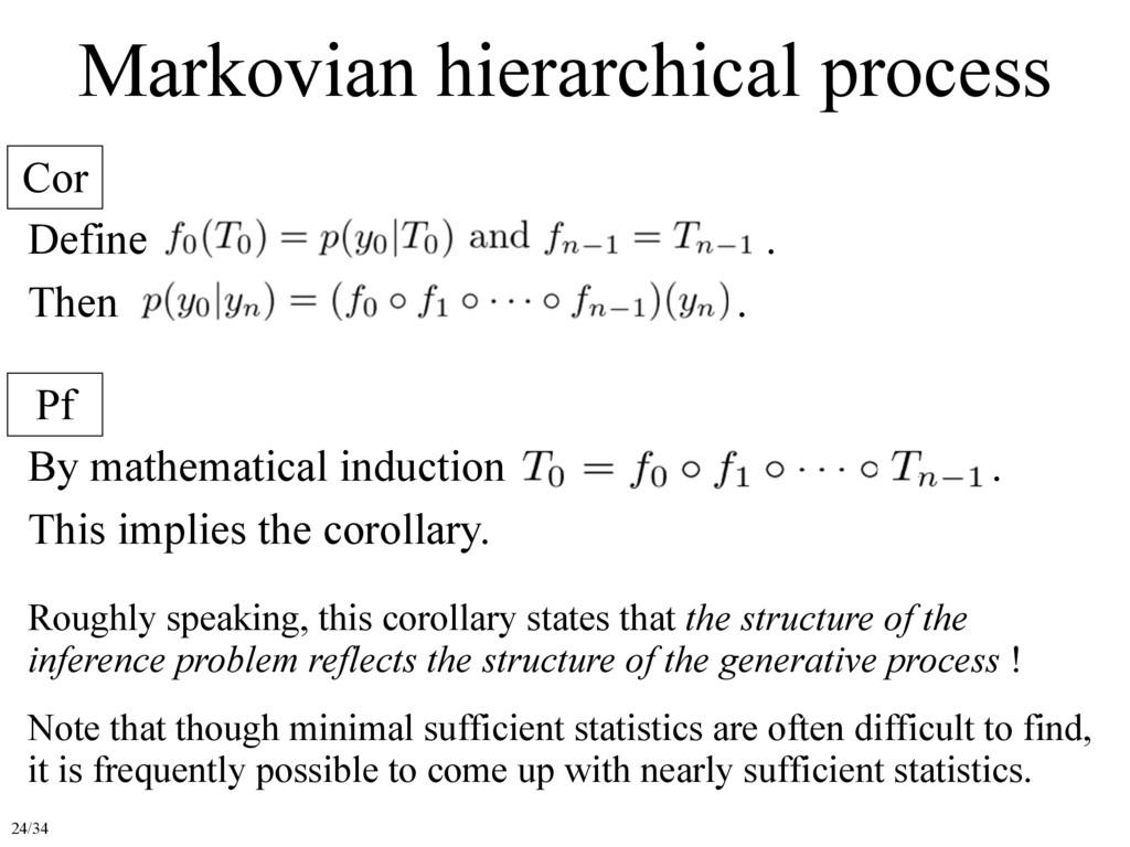 Markovian hierarchical process Cor Pf Define . ...