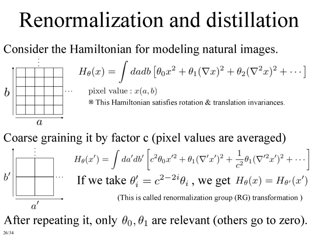 Renormalization and distillation Consider the H...