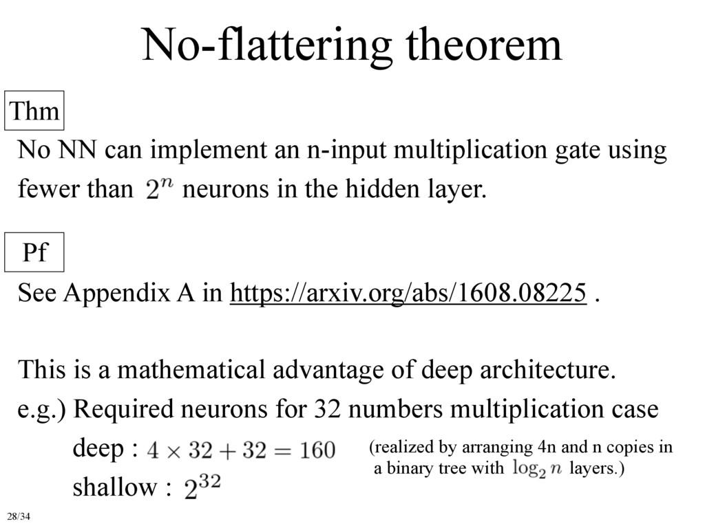 No-flattering theorem Thm Pf No NN can implemen...