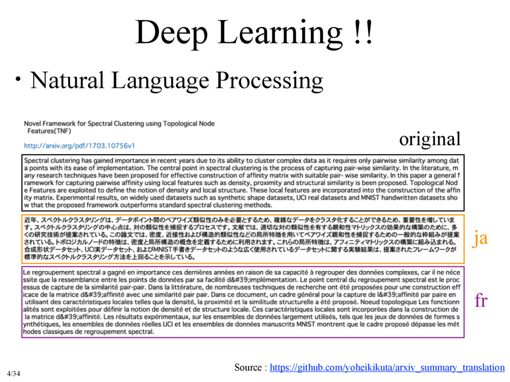 Deep Learning !! ɾNatural Language Processing S...