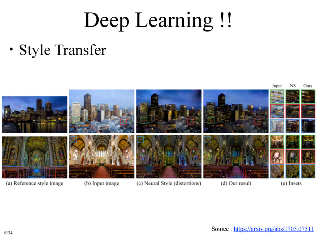 Deep Learning !! ɾStyle Transfer Source : https...