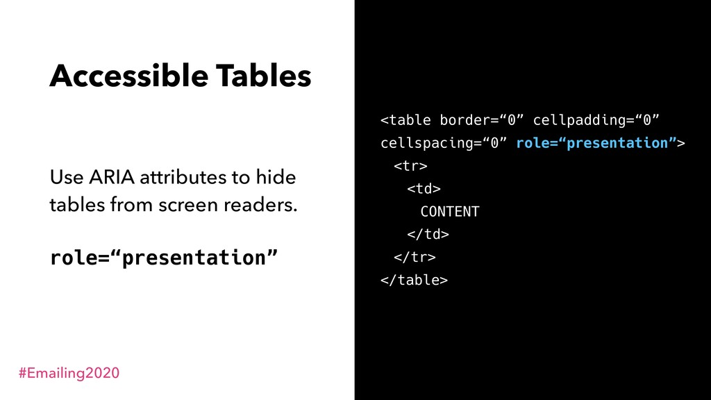 #Emailing2020 @RodriguezCommaJ Accessible Table...