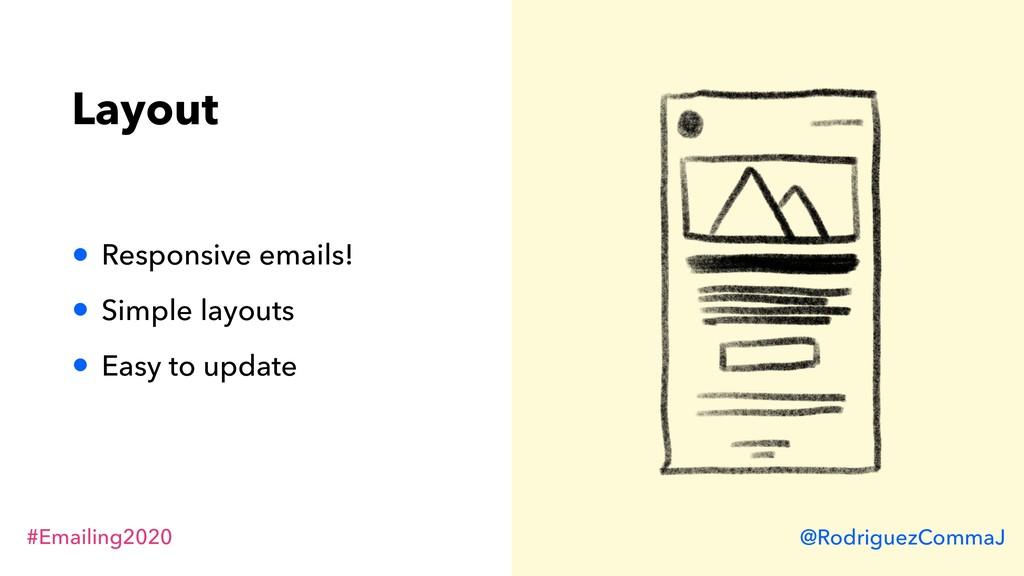 #Emailing2020 @RodriguezCommaJ Layout • Respons...