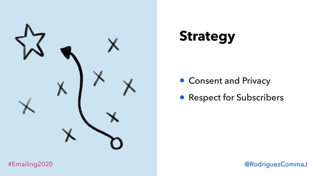 #Emailing2020 @RodriguezCommaJ Strategy • Conse...
