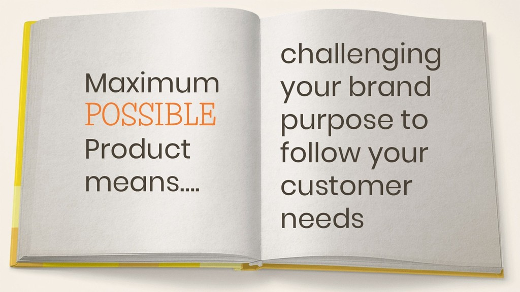 Maximum POSSIBLE Product means…. challenging yo...