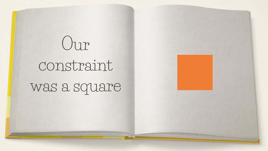Our constraint was a square