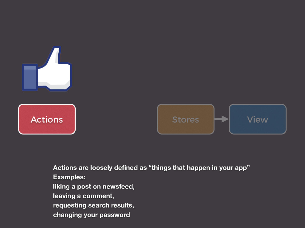 Actions View Stores Actions are loosely defined ...