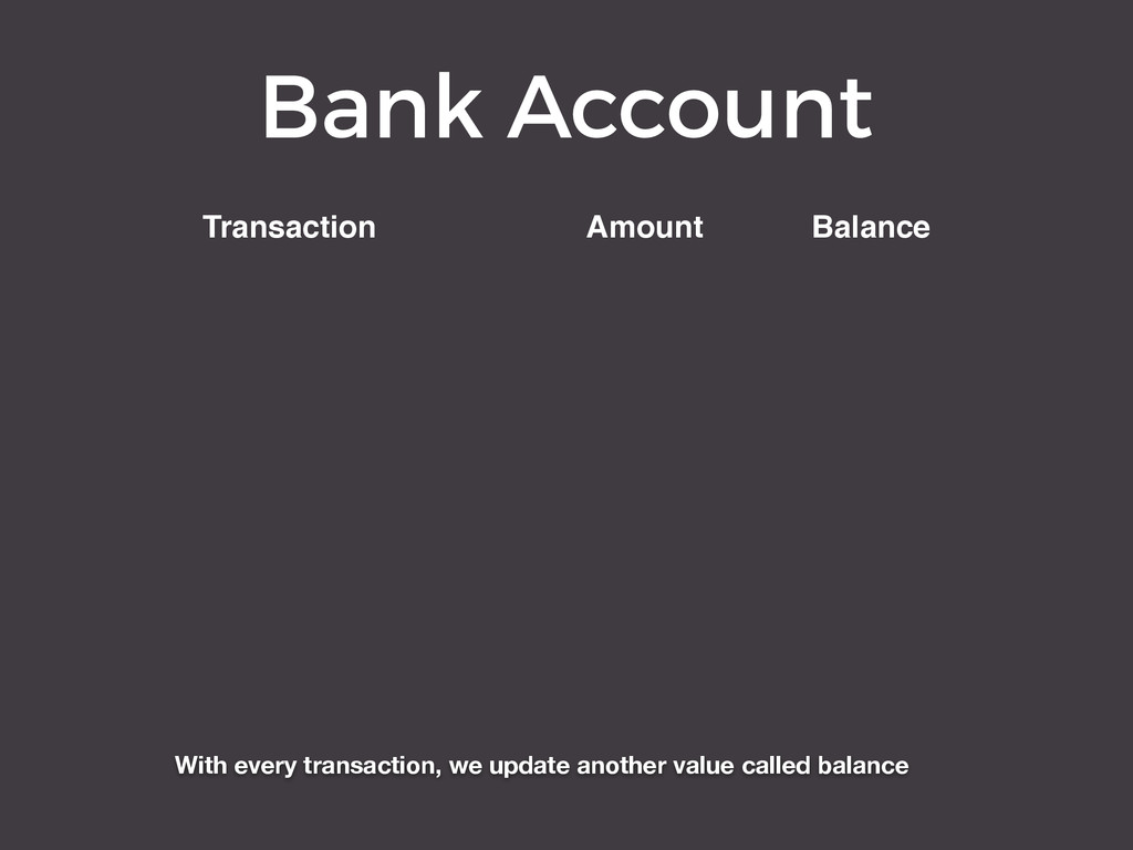 Bank Account Transaction Amount Balance With ev...